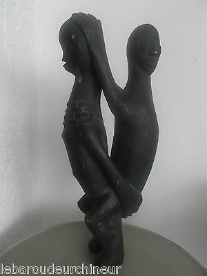 statue africaine deux personnages african arte primavera african statue