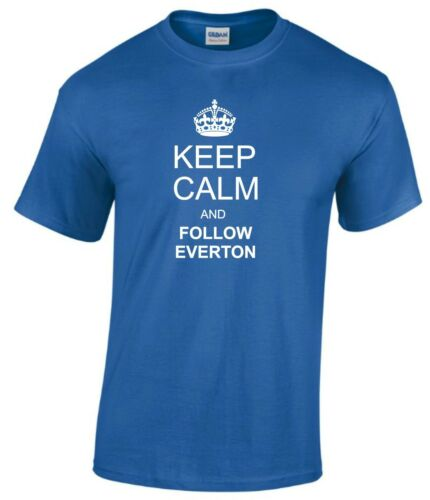 KEEP CALM AND FOLLOW EVERTON FAN T-SHIRT