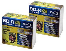 20 Hi-DiSC Bluray 50GB 6X BD-R DL Printable Blu-ray Blank Pro Model No Logo tdk