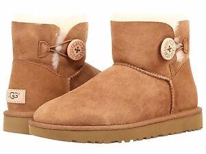 ugg boots mini bailey button ebay