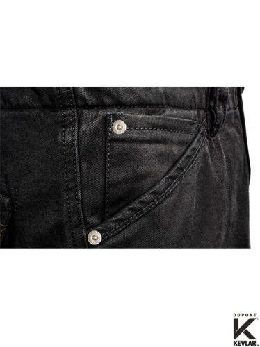 John DOE CARGO men STROKER BLACK XTM larghezza 34 lunghezza 34 Moto Jeans Aramide
