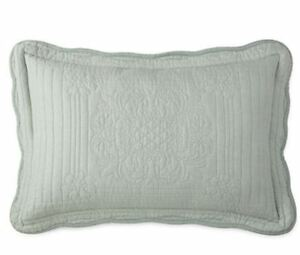 """Jcp Home Expressions Everly Quilted King Pillow Sham 20/""""x36/"""" Restoration Green"""