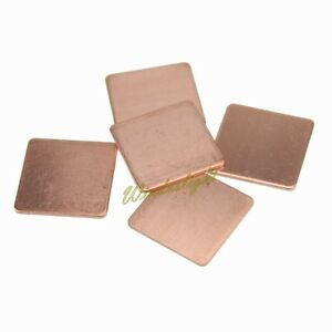 10X 20mm*20mm*1.2mm Copper Heatsink Pad Shim For Laptop GPU VGA Chipset Cooling