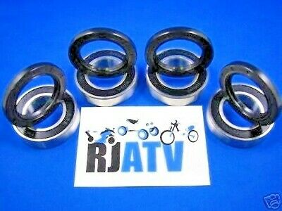 NEW ALL BALLS FRONT WHEEL BEARINGS SEALS FOR 1998 ONLY YAMAHA GRIZZLY 600