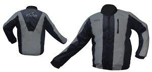 Black-Night-Rainseal-All-Weather-Motorcycle-Bike-Jacket-Waterproof-Hi-Vis-New