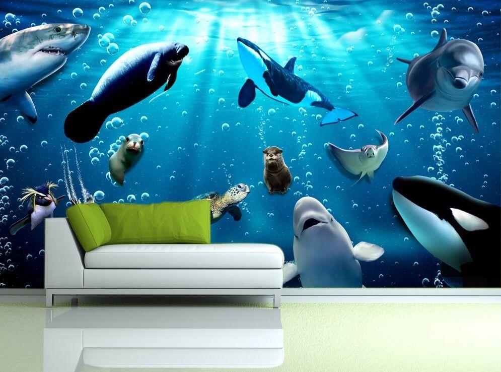 3D Tiefseefischen 818 Fototapeten Wandbild Fototapete Bild Tapete Familie Kinder