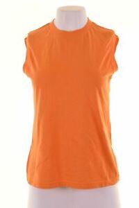 DOLCE-amp-GABBANA-Womens-Vest-Top-Size-14-Large-Orange-Cotton-KD28