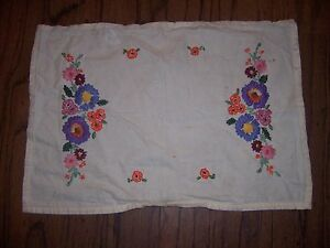 Vintage embriodered TRAY CLOTH 18034 X 13034 - Stockport, United Kingdom - Vintage embriodered TRAY CLOTH 18034 X 13034 - Stockport, United Kingdom