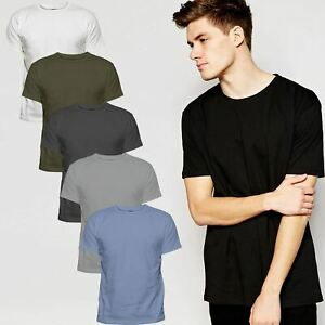 Mens-Single-or-6-Pack-Cotton-Plain-Wholesale-Basic-T-Shirts-Casual-Top-Assorted