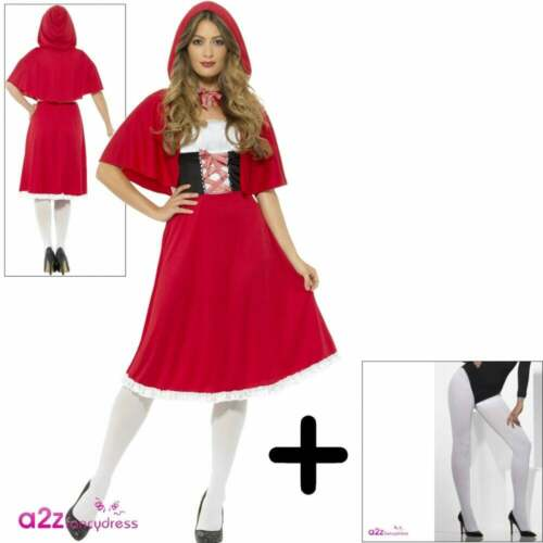 Ladies Red Riding Hood Fairytale Storybook World Book Day Fancy Dress Costume