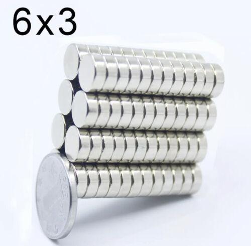 Neodym Supermagnet Scheibenmagnete Starke Magnete Polflächen N35 vernickelt Neu