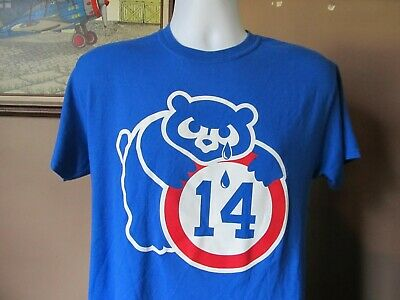 Brand New Chicago Cubs #14 Ernie Banks Majestic 3patch all sewn Jersey MEN BLUE