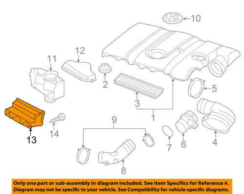VW VOLKSWAGEN OEM 05-16 Jetta Air Intake-Inlet Duct Hose Tube 1K0805971C9B9