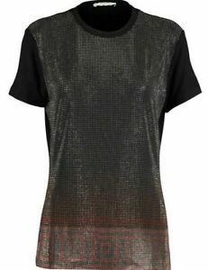 Versace-Collection-women-039-s-diamante-t-shirt-top-Stretch-amp-Slim