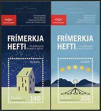 Spaziale Space 2009 Islanda astronomia CEPT Astronomy 1244/45 Libretto di marca mnh/641