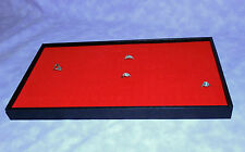 72 Ring Wood Tray With Red Velvet Foam Insert