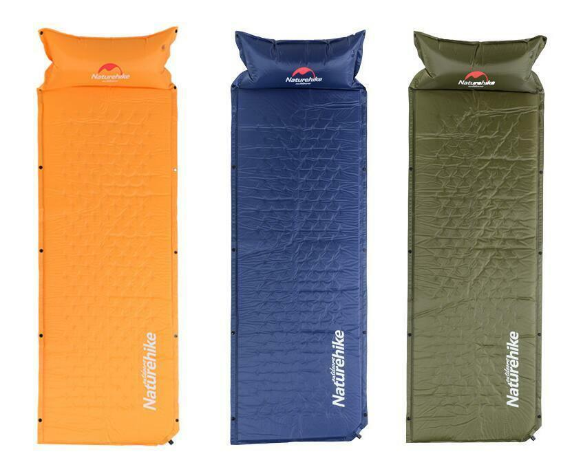 Naturehike Self Inflatable Sleeping Mat Mattress With Pillow Foldable Tent Camp