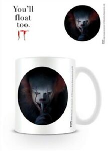 IT-You-039-ll-Float-Too-Pennywise-Clown-Face-Mug-x-2-BRAND-NEW-Set-of-2-Mugs