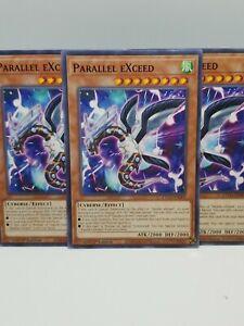 3 x Common NM PARALLEL EXCEED Yu-Gi-Oh Eternity Code ETCO-EN001-1st