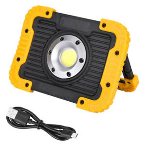 Rectangle LED Work Light Waterproof Emergency USB Rechargeable Lamp Power Bank