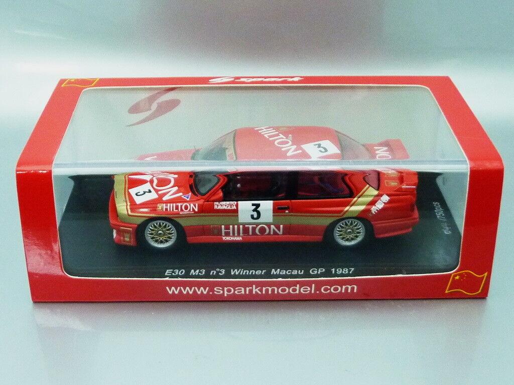 1 43 Spark BMW M3  HILTON  WINNER MACAU GP 1987