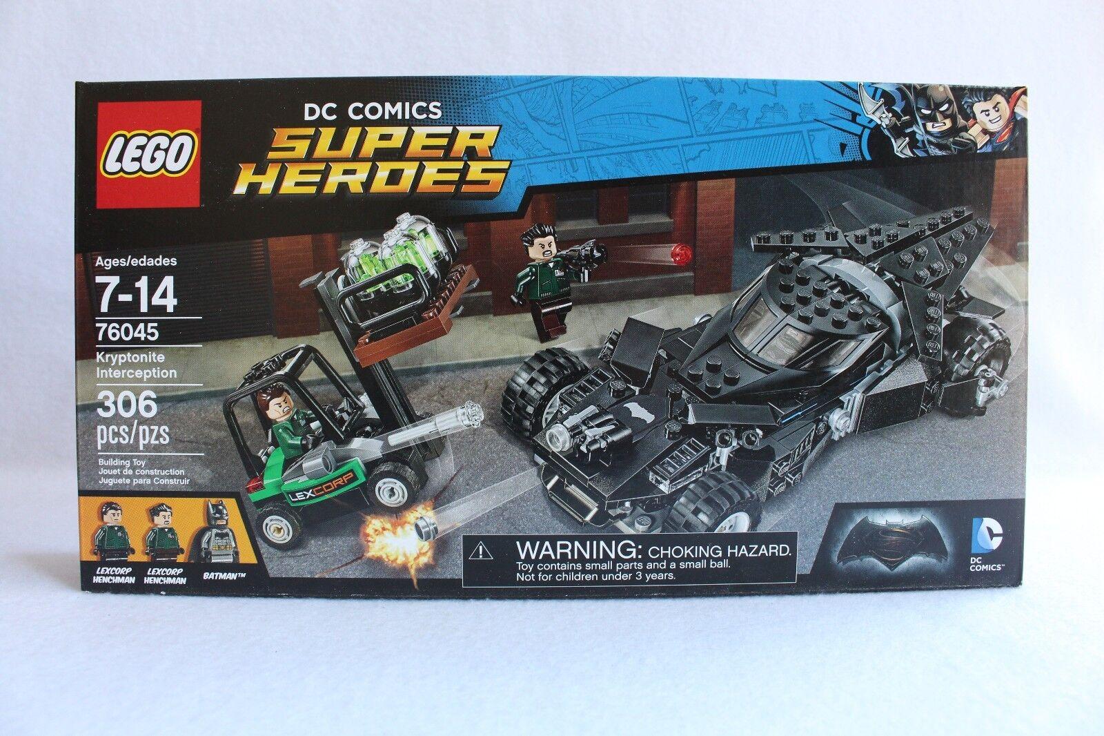 LEGO DC Comics Super Heroes 76045 KYRPTONITE INTERCEPTION Batman Batmobile NEW