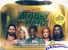 2019 Topps WWE Wrestling MONEY in the BANK Sealed MINI-BRIEFCASE TIN-AUTO/RELIC