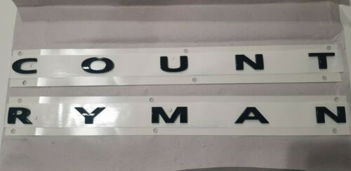 MINI GENUINE F60 COUNTRYMAN PIANO BLACK BOOT BADGE EMBLEM PLAQUE 51142465243