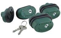 Firearms Trigger Lock, 3-pk Keyed Alike, Fits Most Firearms