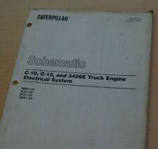 Cat Caterpillar 3406e Marine Engine Electrical Schematic Wiring Diagram Manual Ebay