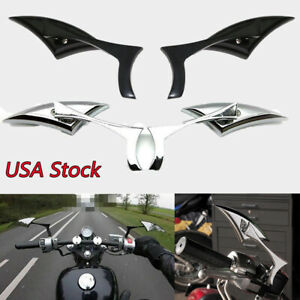 Motorcycle Rearview Mirrors For Harley Davidson Fatboy Heritage Softail Classic Ebay