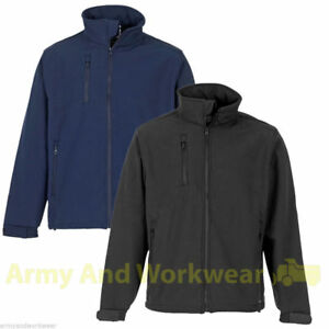 Soft-Shell-Traders-Work-Bomber-Jacket-Mens-Breathable-Security-Workwear-Coat-New