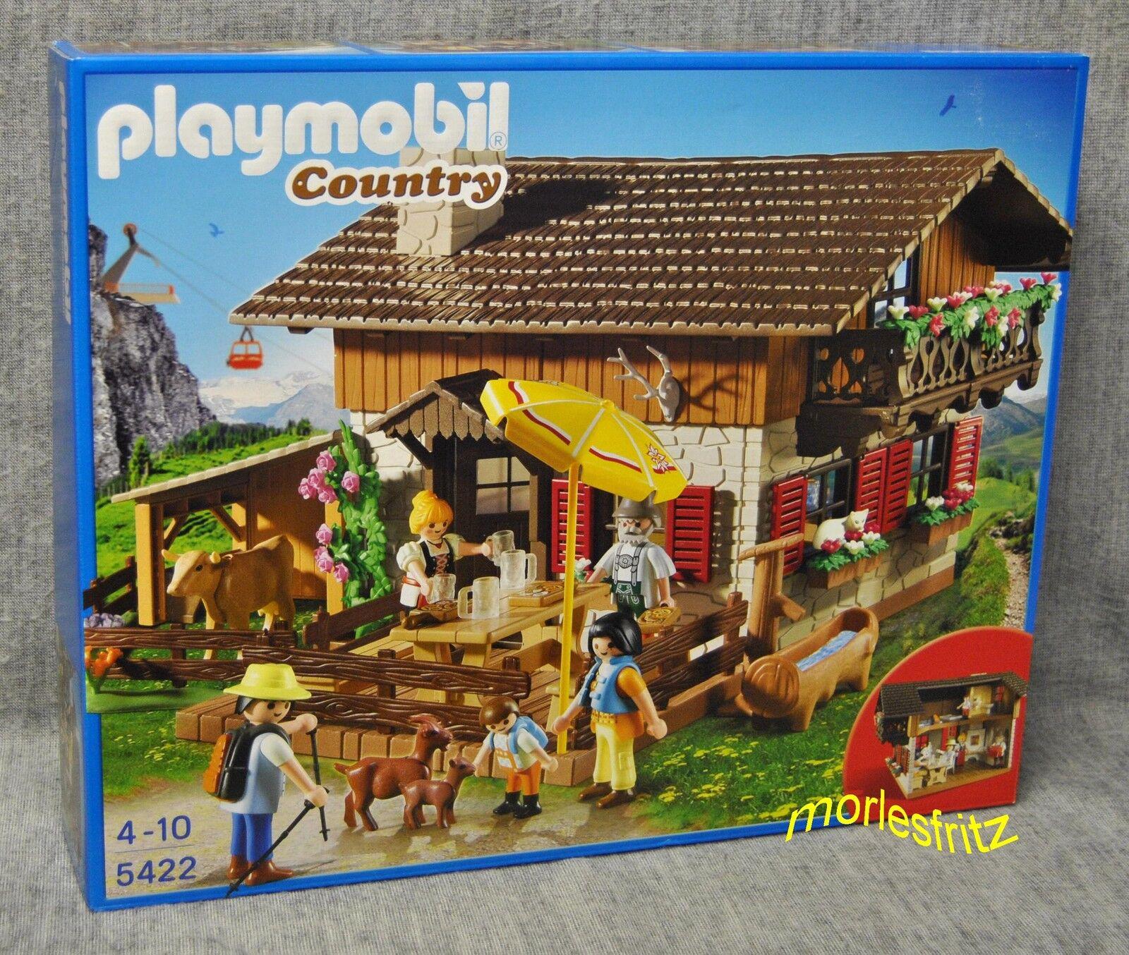 Playmobil 5422 ALMHÜTTE mit Kaminecke - Country - Große Bergwelt - Neu