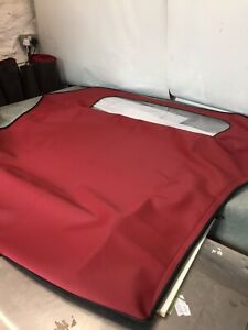 Renault-Megane-1995-on-Soft-Top-Convertible-Car-Hood-In-maroon-Mohair