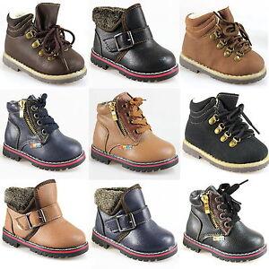 Chicos-chicas-zapatos-de-invierno-botas-bebe-Zapatillas-correr-Termo-Nieve