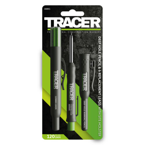 6 Replacement Leads /& Site Holsters AMK1 Tracer Deep Hole Construction Pencil