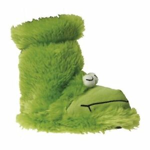 BOYS-GROSBY-GREEN-FROG-RIBBET-BOOTIES-BOOTS-SLIPPERS-WINTER-NIGHT-SHOES-SZ-4-12