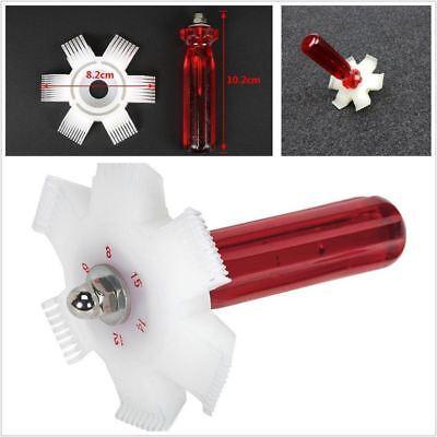 6 In 1 Fin Comb Straightener Tool Cleaner Automotive A//C Radiator Evaporator Condenser Cleaning Tool Intercooler Oil Cooler