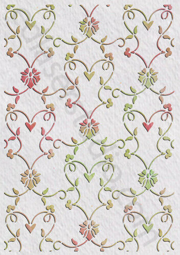 Floral Stencil Vintage Pattern Template Paint Furniture Card making Crafts FL21