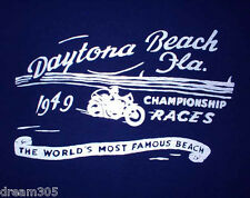 1949 Daytona Vintage Motorcycle Race Shirt XXL Indian Harley WR Scout 101