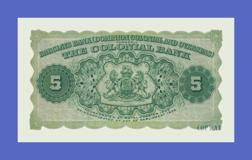 TRINIDAD /& TOBAGO See description!! Reproductions 5 Dollars 1926s