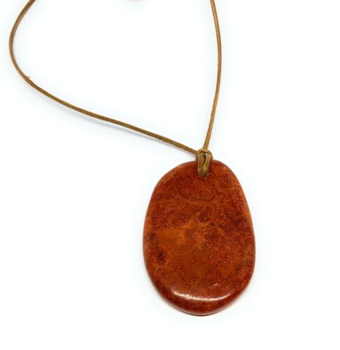 Roberta Red Coral Pendant Necklace