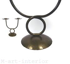 50er Kerzenhalter Messing Leuchter Mid Century brass candle holder 50s vintage