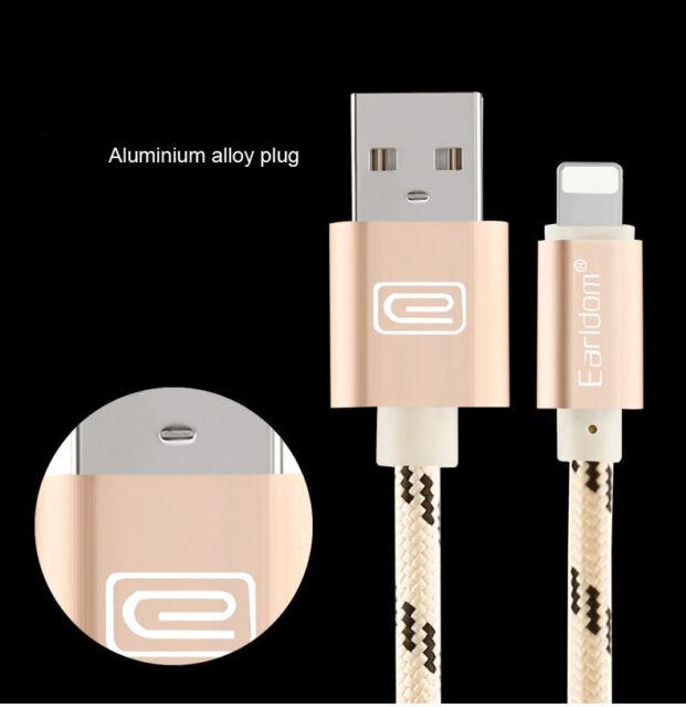 Metal Trenzado Cable USB Carga Sincronización de Datos For iPhone 6 6S 7 Plus