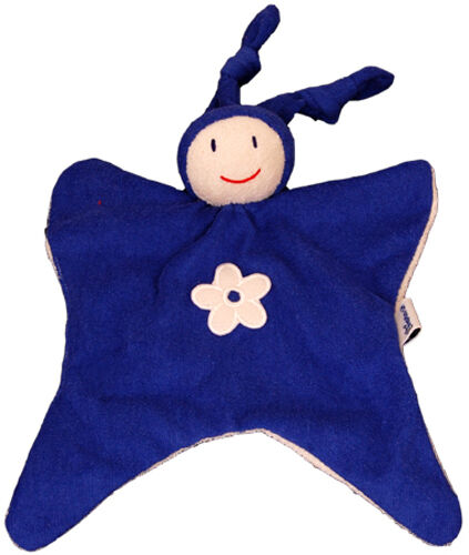 Keptin Jr Organic Cotton Toy TODDLE Comforter Blanket Doll Rattle Blue 48.86.3