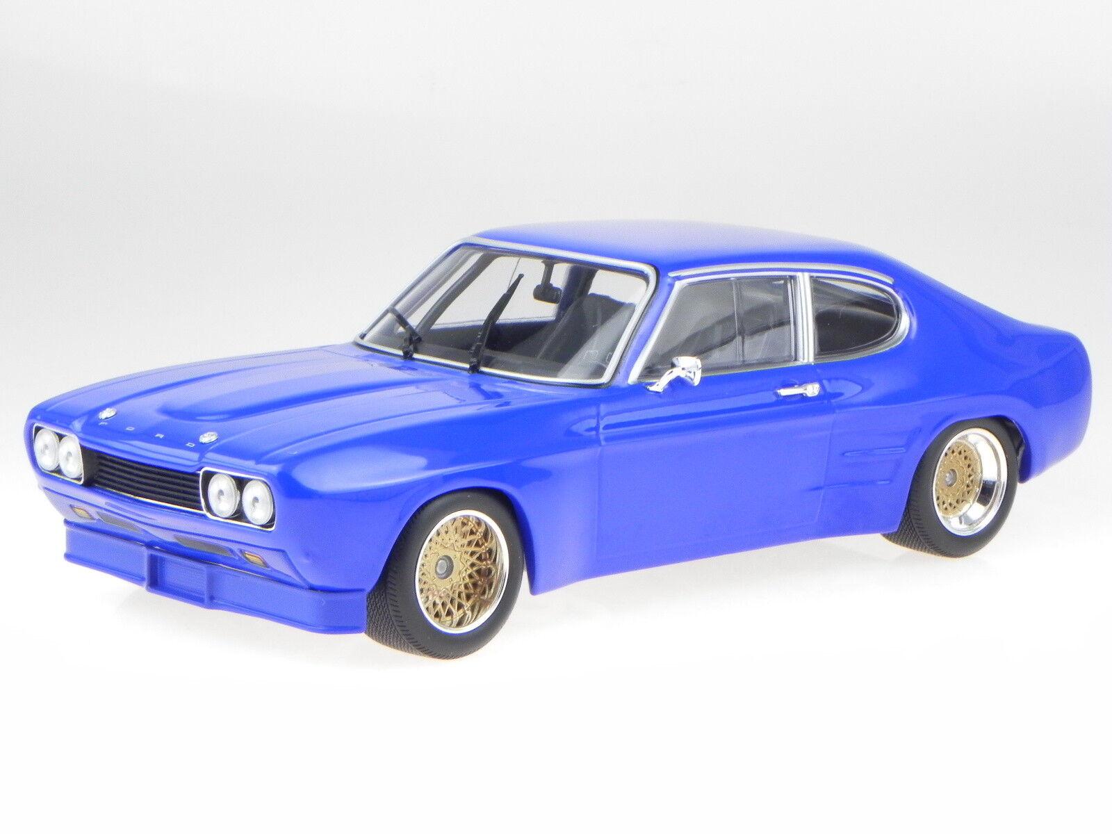 Ford Capri RS 2600 1970 blau Modellauto 155708501 Minichamps 1 18  | Sonderkauf