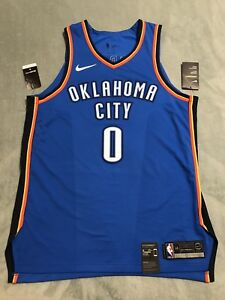 low priced 5d8cc af2e9 Details about Nike Icon Jersey Size 48 OKC Russell Westbrook Authentic  Stitched 863033 403 NWT