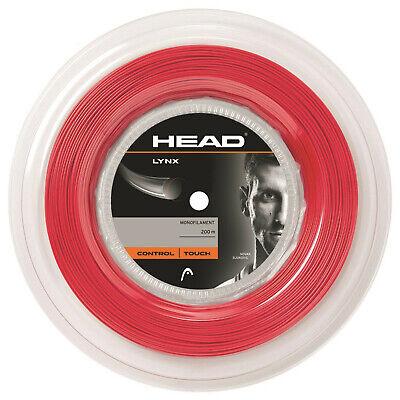 (0,45 €/m) Head Lynx 130 Red 200 M Corde Tennis-mostra Il Titolo Originale Acquisto Speciale