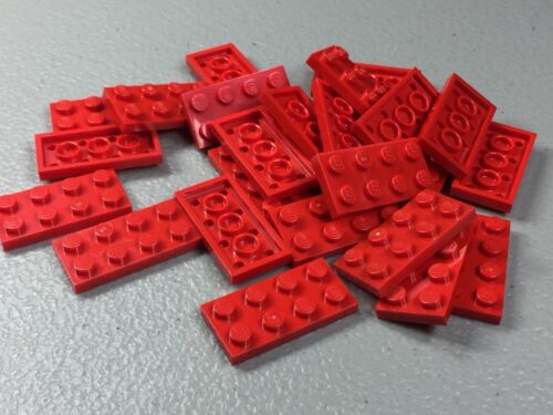 LEGO 2x4 Plates Red LOT OF 25 3020 NEW