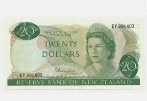 1977-81-NEW-ZEALAND-QE-II-20-Dollars-034-EF-034-HARDIE-167d